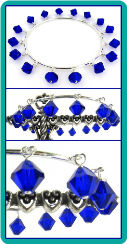 Cobalt Crystal Bangle Bracelet