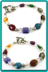 Geometric Crystals and Leafy Toggle Bracelet