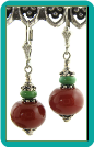 Caramel Carnelian and Turquoise Gemstone Earrings