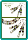 Multistone and Pearl Two-Strand Earrings
