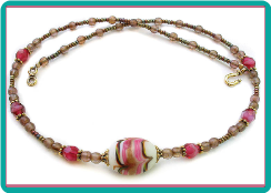 Swirl Bead Necklace