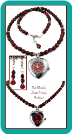 Red Marble Heart Watch Necklace