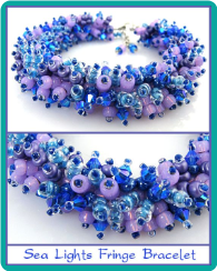 Sea Lights Fringe Bead Bracelet