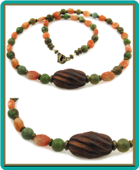 """Peas and Carrots"" Men's Stone Bead Necklace"