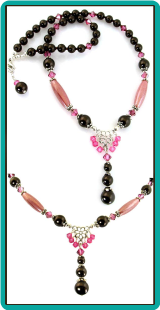 Chocolate Rose Drops Necklace