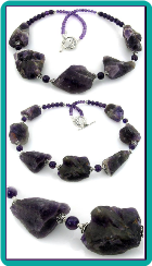 Frosted Amethyst Chunks Necklace