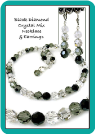 Black Diamond Crystal Mix Necklace & Earrings