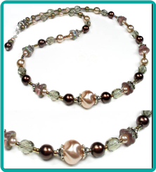 Dusky Rose and Chocolate Necklace