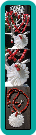 White Shell Daisy and Red Coral Cube Handmade Necklace