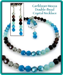 Caribbean Mocha Double-Bead Crystal Necklace & Earrings