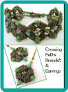 """Crossing Paths"" Brown Tile and Turquoise Earrings"