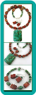 African Turquoise and Red Poppy Jasper Bead Necklace